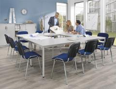 SET-ANGEBOT 4x Konferentisch BASE-MODUL und 12x Stühle