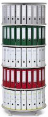 Ordnerdrehsäulen - einzeln drehbare Etagen