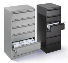 Karteikarten-Stahlschrank - 2- und 3-bahnig