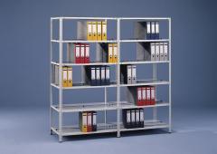 Schraubregal SRA 1000 - 150 kg Fachlast, beidseitige Nutzung