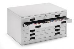 Zeichnungs-/Materialmusterschränke, Schubladenhöhe 65 mm