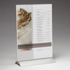 Tischaufsteller mit Aluminium-Fuß