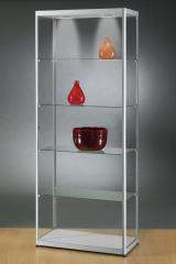 Ausstellungsvitrinen aus Aluminium inkl. LED-Beleuchtung