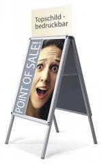 Kundenstopper für innen und den geschützten Außenbereich für Plakatformate DIN A2, DIN A1 und DIN A0