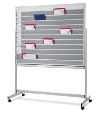 Planungstafel mit rückseitigem Whiteboard, mobil