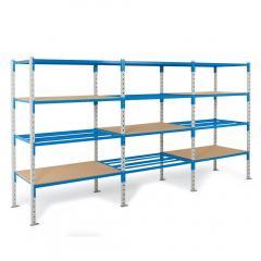 Steckregal ST 5000 PLUS mit Rohr-, Gitter- oder Stahlböden