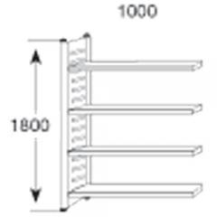 Stahl-Schraubregal STE 1500 1800 | Regalfeld | 600