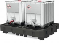 Auffangwannen mit Abfüllstation für KTC/IBC Behälter