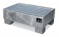 Auffangwannen aus verzinktem Stahl 60-200 L