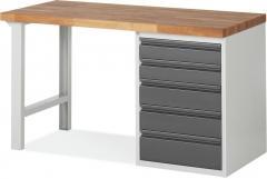 System Werkbänke mit 5 Schubladen