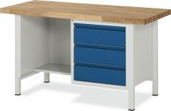 System Werkbänke mit 1 Ablageboden, 3 Schubladen
