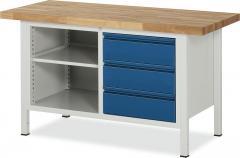 System Werkbänke mit 1 Fachboden, 3 Schubladen