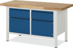 System Werkbänke mit 2 Schubladen, 2 Türen