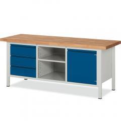 System Werkbänke mit 3 Schubladen, 1 Fachboden, 1 Tür mit Fachboden