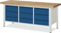 System Werkbänke mit 9 Schubladen