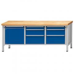 Werkbänke SERIE ERGO - 2+2+2 Schubladen, 1 Tür