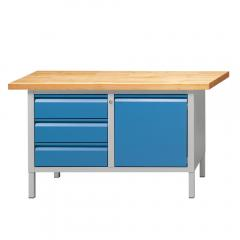 Werkbänke SERIE ALLROUND - 3 Schubladen, 1 Tür
