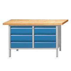 Werkbänke SERIE ALLROUND - 6 Schubladen