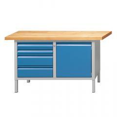 Werkbänke SERIE ALLROUND - 2+2 Schubladen, 1 Tür