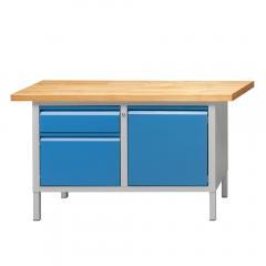 Werkbänke SERIE ALLROUND - 1 Schublade, 1+1 Türen