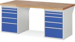 XXL-Werkbank mit 2x5 Schubladen