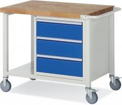Mobile Werkbänke mit 3 Schubladen