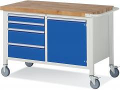 Mobile Werkbänke mit 4 Schubladen