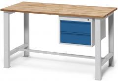 Werkbank WS PROFI mit zwei Schubladen, Höhe fix 840 mm