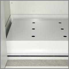 Wannenboden Stahlblech pulverbeschichtet für Sicherheits-Unterbauschrank Typ 90