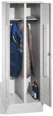 Garderoben-Stahlspinde CLASSIC mit Sockel - 2 Abteile, ein Verschluss