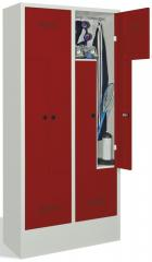 Z-Garderoben Stahlspinde BASIS - Abteilbreite 200/400 mm mit Sockel