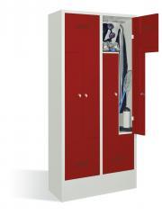 Z-Garderoben Stahlspinde BASIC - Abteilbreite 200/400 mm mit Sockel