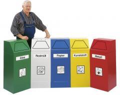Wertstoffsammler 45/65 Liter, stationär oder fahrbar