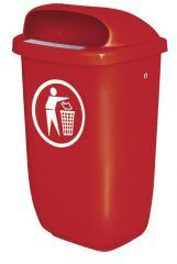 Abfallbehälter mit Regendach, nach DIN 30713