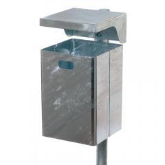 Rechteckige Abfallbehälter zur Wand oder Pfostenbefestigung, 40/50 Liter Inhalt