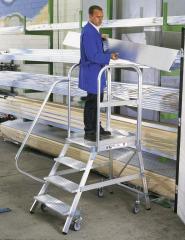 Aluminium-Podestleitern, fahrbar