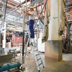 Aluminium-Stehleiter Nivello Pro - Ein- und Beidseitig begehbar