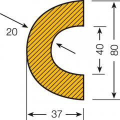 Prallschutz für Rohre | Durchmesser 30-50 mm