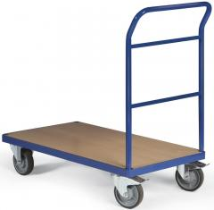 Plattformwagen DELTAMOBIL 500 kg Enzianblau RAL 5010 | Ladefläche: L 850 x B 500 mm