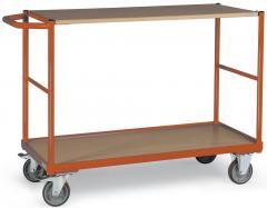 Tischwagen DELTAMOBIL: 250Kg Tragkraft, waagerechter Griff, 2 Ladeflächen, 2 Abmessungen