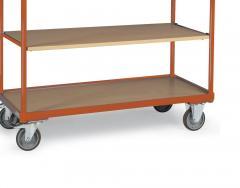 Tischwagen DELTAMOBIL: 250Kg Tragkraft, waagerechter Griff, 3 Ladeflächen, 2 Abmessungen