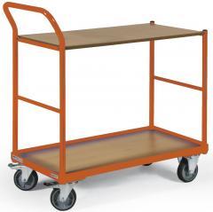 Tischwagen DELTAMOBIL: 250Kg Tragkraft, ergonomischer Griff, 2 Ladeflächen, 2 Abmessungen