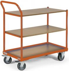 Tischwagen DELTAMOBIL: 250Kg Tragkraft, ergonomischer Griff, 3 Ladeflächen, 2 Abmessungen