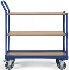 Tischwagen DELTAMOBIL Enzianblau RAL 5010 | Ladefläche: L 850 x B 500 mm