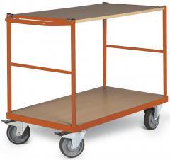 Tischwagen DELTAMOBIL: 350Kg Tragkraft, waagerechter Griff, 2 Ladeflächen, 2 Abmessungen