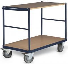 Tischwagen DELTAMOBIL Stahlblau RAL 5011 | Ladefläche: L 850 x B 500 mm