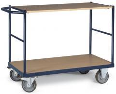 Tischwagen DELTAMOBIL Stahlblau RAL 5011   Ladefläche: L 1000 x B 600 mm