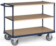 Tischwagen DELTAMOBIL Stahlblau RAL 5011 | Ladefläche: L 1200 x B 800 mm