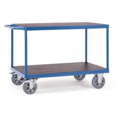 Tischwagen 1200 kg, mit 2 Böden aus Holz,