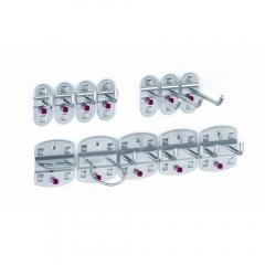 Werkzeughalter-Sortiment Weißaluminium RAL 9006 | 12-teilig